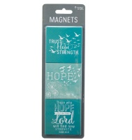 Christian Art Gifts: Trust Hope Strength Magnetic Sets Photo