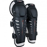 Fox Titan Race Knee/Shin Black Guards - One Size Photo