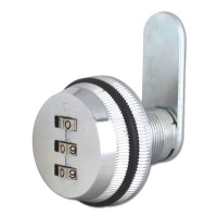 Asec 3 Digit Combination Camlock Silver Photo