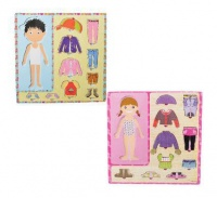 Bulk Pack Educational Push-In Wooden Board Dress Up - Set of 4 Photo