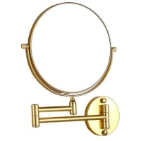 Folding Bathroom Makeup Mirror - Gold Photo
