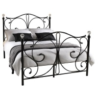 Hazlo Safira Metal Bed - Black Photo