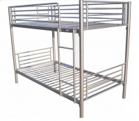 Hazlo Roma Single Over Metal Bunk Bed with Ladder - Silver Photo