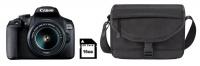 Canon 2000D 24MP DSLR IS Starter Bundle - Black Photo