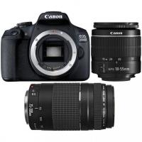 Canon 2000D 24MP DSLR Twin DC Lens Bundle - Black Photo