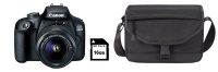 Canon 4000D 18MP DSLR Starter Bundle - Black Photo