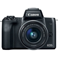 Canon EOS M50 24.1MP Mirrorless Camera with 15-45mm IS STM Lens - Black Photo