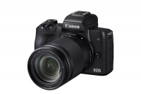 Canon EOS M50 24.1MP Mirrorless Camera with 18-150mm Lens - Black Photo