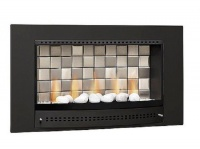 CHAD-O-CHEF Tiled Back Classic Fireplace - Black Facia Photo