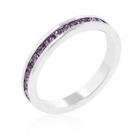 Stylish Stackables with Lavender Crystal Ring Photo