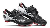 Men's Sidi Tiger Carbon Mountain Bike Shoes - Matte Black/White Photo