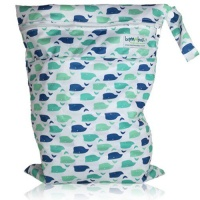 Bamboo Baby Wetbag - Blue Whale Photo