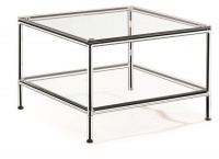 TOCC Double Glass Table - 600 x 600 Photo