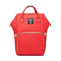 Multifunction Waterproof Diaper Bag - Red Photo