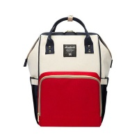 Multifunction Waterproof Diaper Bag - Red & White Photo