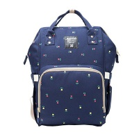 Multifunction Waterproof Diaper Bag - Dark Blue Photo