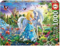 Educa The Princess And The Unicorn 1000 Piece Puzzle Photo