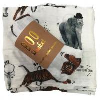 Boo Blanket Muslin Receiving Blanket - Circus Photo