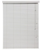 Decor Depot 50mm Fauxwood Venetian Blinds - White Photo