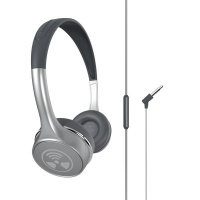 iFrogz Toxix Plus Headphones with Mic - Platinum Photo