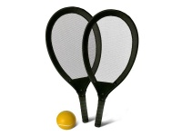 Kids Tennis Rackets & Ball Beach Set - Black Photo