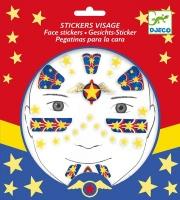 Djeco Face Stickers - Super Hero Photo
