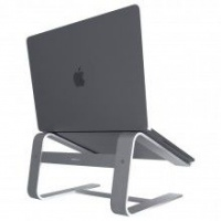 Macally Aluminium Stand for Apple Macbook/ Notebook - Space Grey Photo