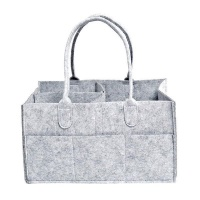 Fine Living - Felt Diaper Organiser - Grey Photo