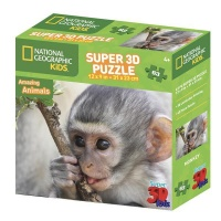 National Geographic Monkeys 3D Puzzle - 63 Piece Photo
