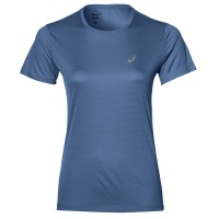 ASICS Women's Short Sleeves Running Top - Blue Photo