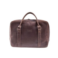 Burgundy Collective The Grab & Go Laptop Briefcase - Brown Photo