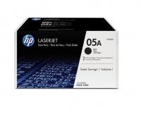 HP 05A Laserjet P2035/P2055 Black Print Cartridge - Dual Pack Photo
