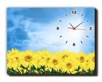 LASA Wall Art Painting with Clock - Sunflower Photo
