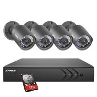 Annke 8CH Security CCTV HD DVR 4 Cameras Kit & 1TB HDD Photo