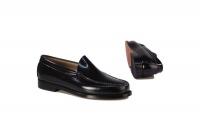 Bass Men's Formal Slip-On Shoes - Black Photo