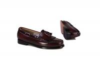 Bass Men's Formal Slip-On Shoes - Burgundy Photo