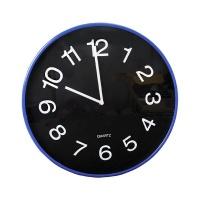Quartz Wall Clock Non-Ticking Round 38cm - Blue Photo
