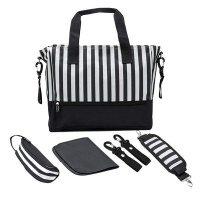 Baby Nappy Changing Bags Set - Black Photo