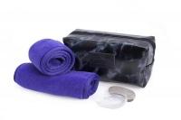 Wonder Towel Black Marble Luxury Cosmetic Bag Collection - Purple Photo