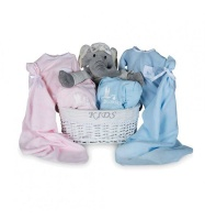 bebedeparis Twins Trousseau Baby Gift Basket Photo