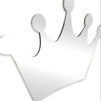 Iconix Kids Shatterproof Acrylic Mirror Bedroom Decor - Crown Photo