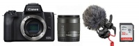 Canon EOS M50 24MP Mirrorless Vlogger Value Bundle Photo