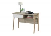 LINX Alaska Work Desk - Sonoma Oak and White Photo