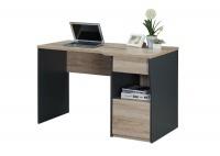 LINX Colorado Work Desk - Sonoma Oak and Dark Grey Photo