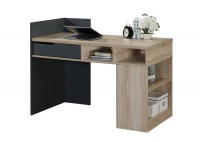 LINX Ohio Work Desk - Sonoma Oak and Dark Grey Photo