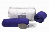Wonder Towel White Marble Cosmetic Bag Collection - Purple Photo