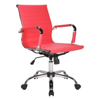 Basics Studio Mid Back PU Chair - Red Photo