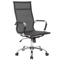 Basics Studio Stan High Back Mesh Chair - Black with Chrome Photo