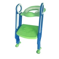 Children Toilet Seat Chair - Blue & Green Photo