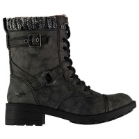 Rocket Dog Ladies Thunder Canyon Falls Biker Boots - Black Photo